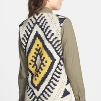Blu Pepper Sweater Back Twill Jacket (Juniors) (Online Only) | Nordstrom