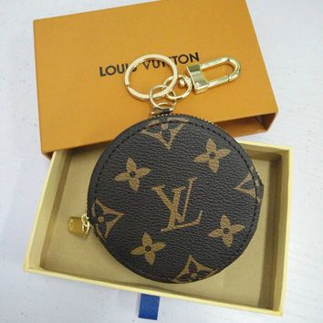 LV Small Bag Louis Vuitton Fashion Trending Leather Key Pouch Car Key Wallet B-MYJSY-BB Coffee