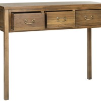 Cindy Console With Storage Drawers Oak