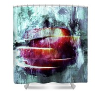 Winter Apple Modern Art Shower Curtain