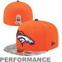 New Era Denver Broncos Salute to Service On-Field 59FIFTY Fitted Hat – Orange/Digital Camo
