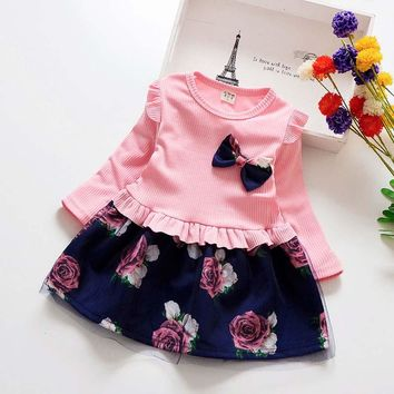 Girl Dress Christmas Party Dresses Spring Autumn Kids Girls Floral Clothes Children Girl Princess Dress Girls Costume