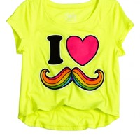 I Love Mustache Cropped Graphic Tee | Shop Justice