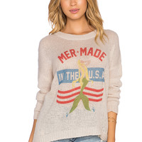 The Laundry Room Mermade In The USA Beach Bummies Sweater in Khaki