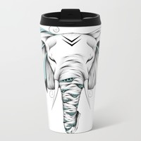 Poetic Elephant Metal Travel Mug by LouJah
