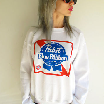 Vintage Pabst Blue Ribbon Sweatshirt From Thevintagevegetarian