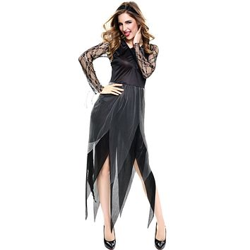 Adult Corpse Bride Cosplay Costume Vampire Halloween Stage Woman Sexy Costume