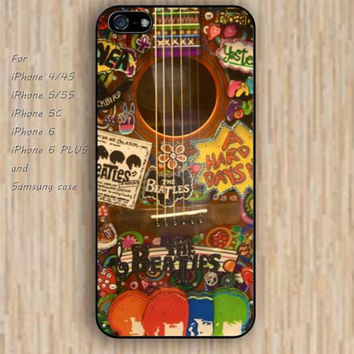 iPhone 5s 6 case beatles colours guitar phone case iphone case,ipod case,samsung galaxy case available plastic rubber case waterproof B251