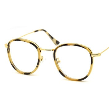 Yellow Round Optical Glasses in Fine Frame