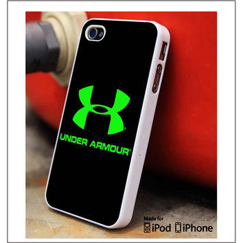 Under Armour Green Light iPhone 4s iPhone 5 iPhone 5s iPhone 6 case, Galaxy S3 Galaxy S4 Galaxy S5 Note 3 Note 4 case, iPod 4 5 Case