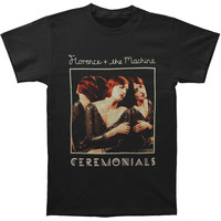 Florence + The Machine Men's  Ceremonials 2012 Tour Slim Fit T-shirt Black