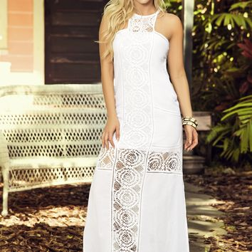 Long White Summer Dress Resort Wear