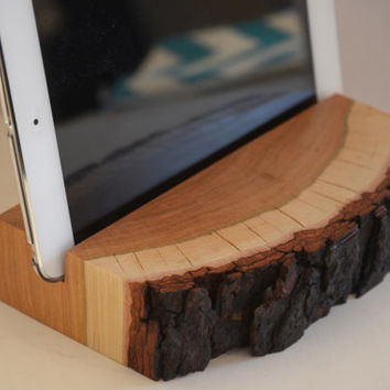 Walnut Wood iPad Stand , iPad Mini Stand , Tablet Stand , Docking Station , Gift