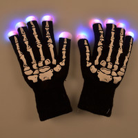 Cycling Skull Lightning Halloween Christmas Gloves [6471519364]