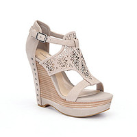 Gianni Bini Rissa Laser-Cut Wedge Sandals | Dillards.com