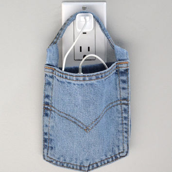 Cell phone charging station, wall charger, Levi's, docking station, phone charging pouch, cell phone charger