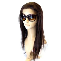 "LACE FRONT WIG , ""100% Human Hair Quality"" human hair mix fiber Long Straight (LC601)"