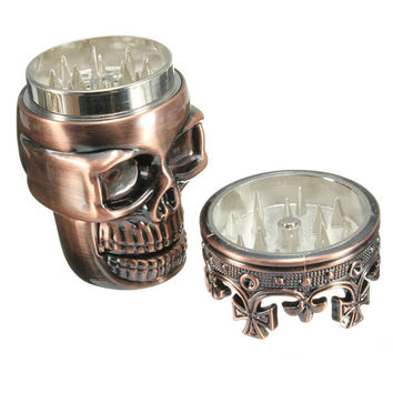 Hot Sale King Skull Shape Metal Herb Grinder