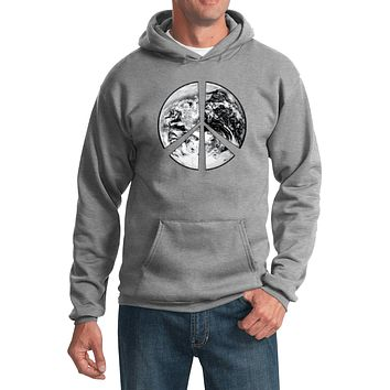 Buy Cool Shirts Peace Hoodie Earth Satellite Symbol