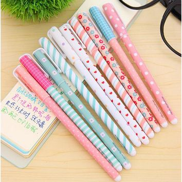10 PCS/pack Hot Sale Stationery Store Cute Korean School Office Supplies 0.38mm Ink Gel Pens Smooth Write Colored Pens