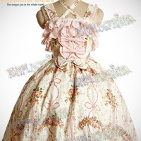 Sweet Rococo Lolita JSK&Embroidery Ruffle Bustle*Instant Shipping