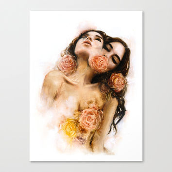 Rose Canvas Print by Charmaine Olivia