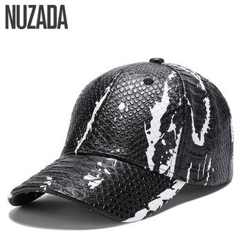 Trendy Winter Jacket Brand NUZADA PU Leather Spring Summer Autumn Men Women Couple Baseball Cap Street Cool Style Caps Hats Bone Snapback AT_92_12