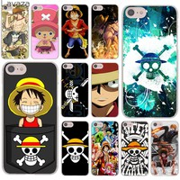 Lavaza One Piece Luffy Anime Hard Cover Case for Apple iPhone 8 7 6 6S Plus 5 5S SE 5C 4 4S X 10 Coque Shell