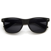 Retro Soft Rubberized Horned Rim Sunglasses  8698