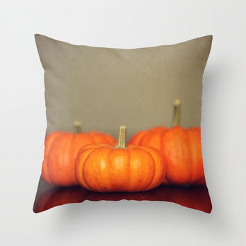 Pillow Cover, throw pillow cover pumpkin home decor orange Thanksgiving living room bedroom Holiday brown rustic tan harvest winter couch