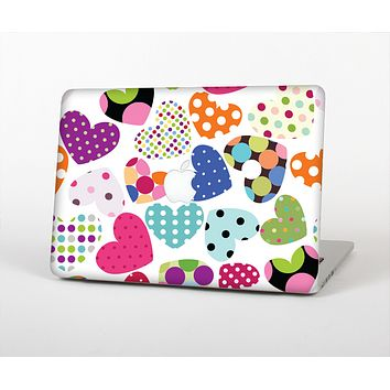 The Colorful Polkadot Hearts Skin for the Apple MacBook Air 13""