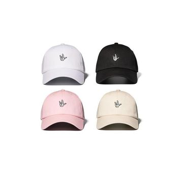 High Quality Embroidery Gesture Dad Baseball Caps Hats Hip Hop Snapback Cap Men Hand Logo Sunscreen Visor Trucker Cap Gorra