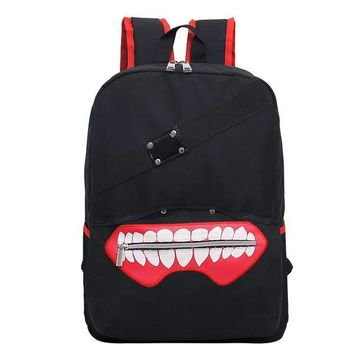 Tokyo Ghoul Mouth Zipper Anime Backpack
