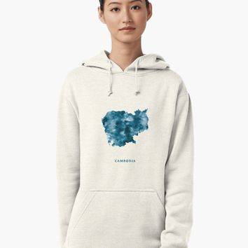 """Cambodia"" Pullover Hoodie by MonnPrint 