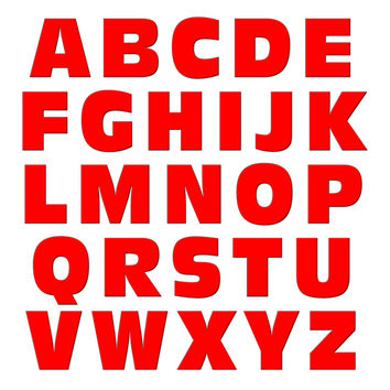 Alphabet Letters Uppercase Red MAG-NEATO'S TM Refrigerator Magnet Set