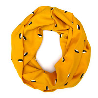 Penguin Cowl Scarf, Scarf, Penguins, Yellow, Black, White