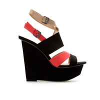 COMBINATION CROSSOVER WEDGE - Shoes - TRF - ZARA Canada