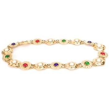 Chanel Vintage Jewelled Medallion Belt - Farfetch