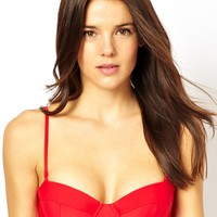 Piha Solid Underwired Balconette Bikini Top