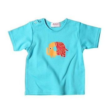 Zutano Elephant Parade Short Sleeve Tee Shirt 6-12 month