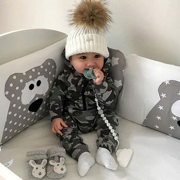 Infant Baby Boys Girls Camouflage Print Hooded Romper Jumpsuit Clothes Outfits Costume Baby Clothes Romper Jumpsuit for baby boy
