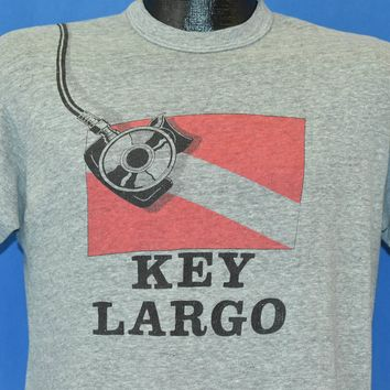 80s Key Largo Florida Scuba Diving Tank t-shirt Medium