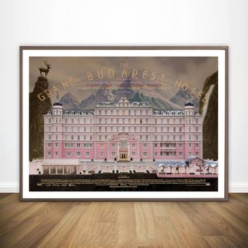 Classic The Grand Budapest Hotel Movie Wall Art Wall Decor Silk Prints Art Poster Paintings for Living Room No Frame