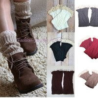 Women's/Girl Crochet Lace Knitted Boot Cuffs Toppers Leg Warmers Boot Socks