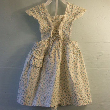 Vintage 1940s Child's Pinafore / Jumper / Apron / Sundress / Girls