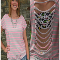 Slice of Life Top -- Pink