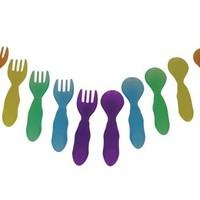 The First Years Take & Toss Toddler Fork And Spoon Flatware, Colors May Vary
