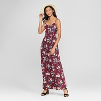 Women's Strappy Apron Front Floral Maxi Dress - Xhilaration™