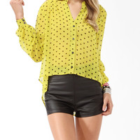 Neon Polka Dot Button Up | FOREVER21 - 2025100983