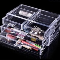 Luxury Acrylic Cosmetic Organizer Makeup Box 2 Drawers 1005-3***